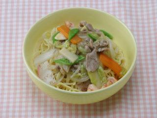 保育園のパン・麺レシピ(あんかけ焼きそば)