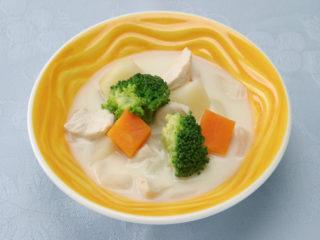 保育園の煮物・和え物レシピ(チキンと野菜のクリーム煮)