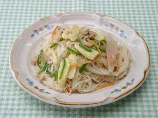 保育園のパン・麺レシピ(そうめんチャンプル)