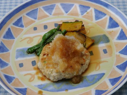 保育園の焼き・炒め物レシピ(豆腐ハンバーグ)
