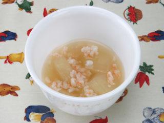 保育園の煮物・和え物レシピ(冬瓜とえびのトロトロ煮)