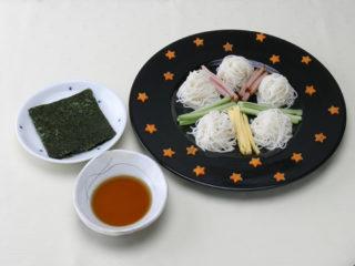 保育園のパン・麺レシピ(七夕手巻きそうめん)